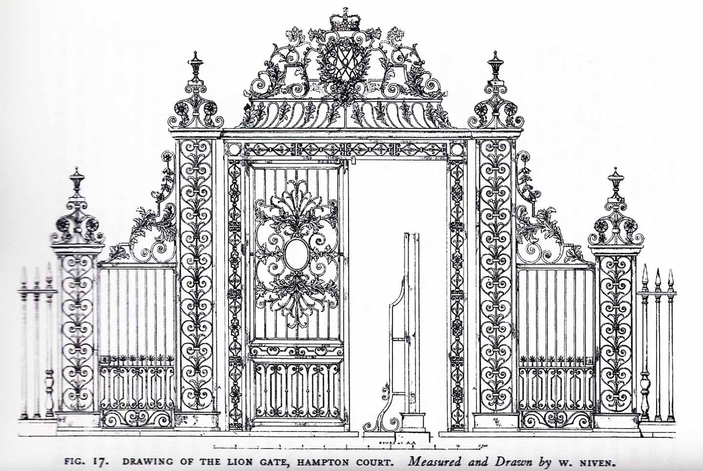 History restoration of tijou gates at petworth house