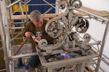 Blacksmith, Hand forged, Design, Ironwork, Forge, Wrought Ironwork, Hot Forged, Blacksmithing, Tijou, Petworth, Petworth House, Jean Tijou, Petworth Gates, Brawn and Downing, Mick Stanton