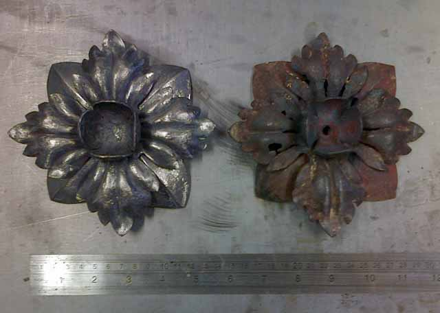 Tooling test piece for 'Boarder rosettes', still needs refinement but Ok for a prototype.